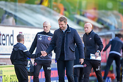Dundee United's manager Robbie Neilson at half time. Dundee United 6 v 0 Morton, Scottish Championship game played 28/9/2019 at Dundee United's stadium Tannadice Park.