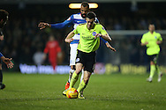 Brighton winger, Jamie Murphy (15) during the Sky Bet Championship match between Queens Park Rangers and Brighton and Hove Albion at the Loftus Road Stadium, London, England on 15 December 2015.