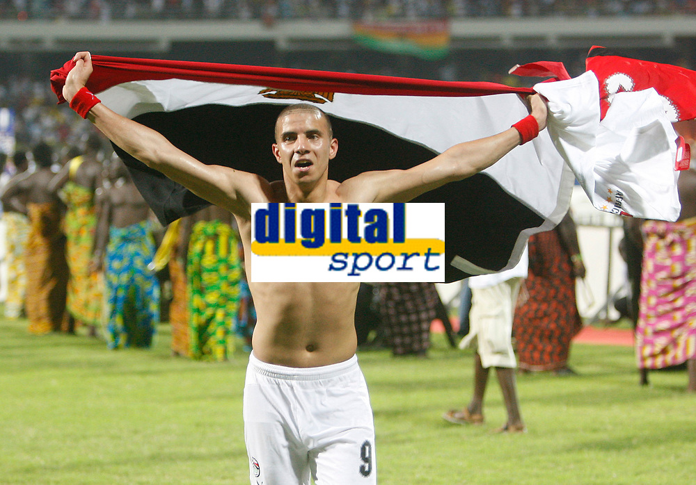 Photo: Steve Bond/Richard Lane Photography.<br /> Cameroon v Egypt. The Final. Africa Cup of Nations. 10/02/2008. Mohamed Zidan celebrates