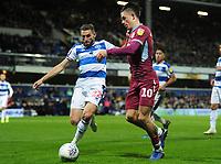 Football - 2018 / 2019 Sky Bet EFL Championship - Queens Park Rangers vs. Aston Villa<br /> <br /> Jack Grealish of Villa and Angel Rangel of QPR, at Loftus Road.<br /> <br /> COLORSPORT/ANDREW COWIE