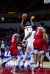 NORMAL, IL - December 18: Dedric Boyd shoots a fader in the lane in traffic during a college basketball game between the ISU Redbirds and the UIC Flames on December 18 2019 at Redbird Arena in Normal, IL. (Photo by Alan Look)