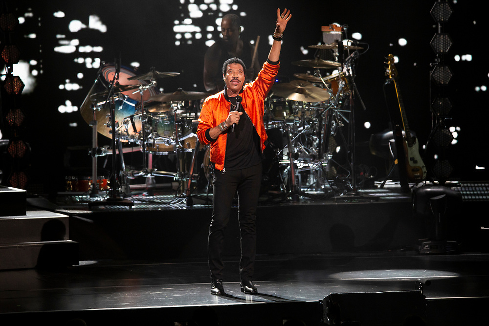 Lionel Richie performing at Summerfest in Milwaukee, WI on July 2, 2019.