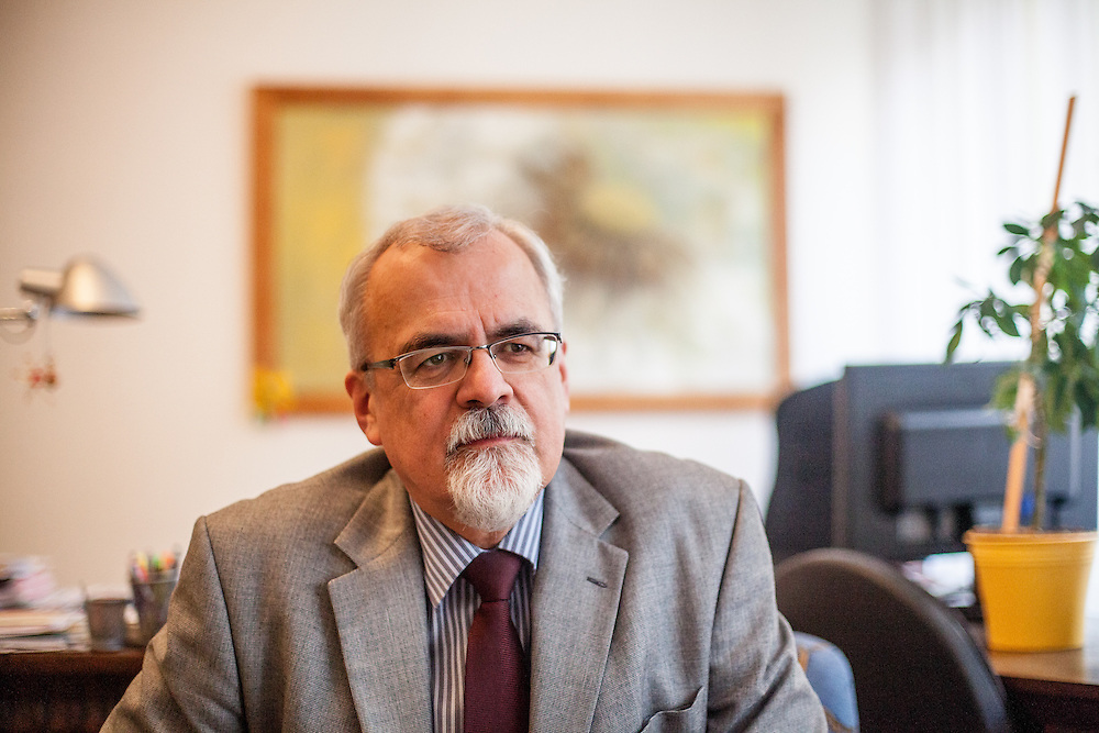 Joel Ruml Synodal Senior of the Evangelical Church of Czech Brethren in his office in Prague.
