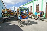 Cuba, Camaguey. bicitaxi