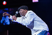 Beres Hammond engaging the crowd at The Biolife Sounds of Reggae at the Barclays Center.