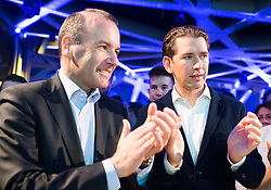 "12.04.2019, Palais Wertheim, Wien, AUT, ÖVP, ""Europa-Get-Together"" der Jungen Österreichischen Volkspartei. im Bild EVP-Spitzenkandidat zur Europawahl Manfred Weber und Bundeskanzler Sebastian Kurz (ÖVP) // MEP Manfred Weber (European Peoples Party) and Austrian Federal Chancellor Sebastian Kurz during get together of the Youth of the European People's Party regarding to Eurpean Parliment Elections of the Austrian People' s Party in Vienna, Austria on 2019/04/12. EXPA Pictures © 2019, PhotoCredit: EXPA/ Michael Gruber"