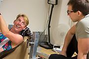 In Amsterdam traint Iris Slappendel op de VU door de wedstrijd te simuleren. Slappendel overlegt met trainer Marco Korf. In september wil het Human Power Team Delft en Amsterdam, dat bestaat uit studenten van de TU Delft en de VU Amsterdam, tijdens de World Human Powered Speed Challenge in Nevada een poging doen het wereldrecord snelfietsen voor vrouwen te verbreken met de VeloX 7, een gestroomlijnde ligfiets. Het record is met 121,44 km/h sinds 2009 in handen van de Francaise Barbara Buatois. De Canadees Todd Reichert is de snelste man met 144,17 km/h sinds 2016.<br /> <br /> With the VeloX 7, a special recumbent bike, the Human Power Team Delft and Amsterdam, consisting of students of the TU Delft and the VU Amsterdam, also wants to set a new woman's world record cycling in September at the World Human Powered Speed Challenge in Nevada. The current speed record is 121,44 km/h, set in 2009 by Barbara Buatois. The fastest man is Todd Reichert with 144,17 km/h.