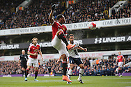 Anthony Martial of Manchester United in action. Barclays Premier league match, Tottenham Hotspur v Manchester Utd at White Hart Lane in London on Sunday 10th April 2016.<br /> pic by John Patrick Fletcher, Andrew Orchard sports photography.