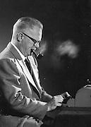 Gordon MacQuarrie studio photo, ca. 1950.