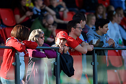 YSTRAD MYNACH, WALES - Wednesday, April 5, 2017: Wales supporters during the Women's International Friendly match against Northern Ireland at Ystrad Mynach. (Pic by Laura Malkin/Propaganda)
