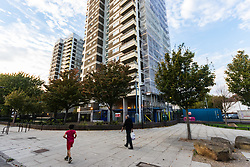 MAIL-ON_SUNDAY The North Woolwich estate in East London where Reggie Nelson grew Up. North Woolwich, London, October 05 2018.