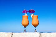 Tropical smoothie beverage.