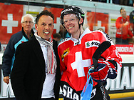 04.April 2012; Rapperswil-Jona; Eishockey - Schweiz - Finnland;<br />  Coolest Goal - Premio (Thomas Oswald/freshfocus)