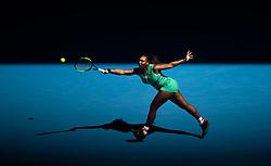 MELBOUREN, Jan. 19, 2019  SP)AUSTRALIA-MELBOUREN-TENNIS-AUSTRALIA OPEN-DAY 6.    Serena Williams of the United States is in action.    during her women's singles third round match against Dayana Yastremska of Ukraine at the Australian Open in Melbourne, Australia, Jan. 19, 2019. (Credit Image: © Elizabeth Xue Bai/Xinhua via ZUMA Wire)
