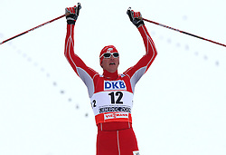 Bill Demong of USA placed third at Nordic Combined Individual Gundersen NH, 10 km, at FIS Nordic World Ski Championships Liberec 2008, on February 22, 2009, in Vestec, Liberec, Czech Republic. (Photo by Vid Ponikvar / Sportida)