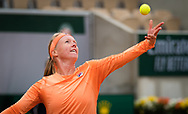 Kiki Bertens of the Netherlands in action during the first round at the Roland Garros 2020, Grand Slam tennis tournament, on September 28, 2020 at Roland Garros stadium in Paris, France - Photo Rob Prange / Spain ProSportsImages / DPPI / ProSportsImages / DPPI