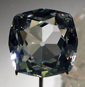 The Scotch Koh-i-Noor. 88 carat Goshenite Beryl. Etched crystal. Originally promoted as being from Scotland, but is more likely from Brazil. Rare and colourless.
