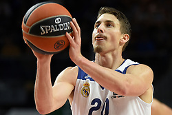 January 27, 2017 - Madrid, Madrid, Spain - Jaycee Carroll, #20 of Real Madrid in action during the Euroleague basketball match between Real Madrid and EA7 Emporio Armani Milano. (Credit Image: © Jorge Sanz GarcíA/Pacific Press via ZUMA Wire)