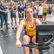 1:50 PM- Concept2 #25- Women?s 500m U17<br /> <br /> NZ Indoor Champs, raced at Avanti Drome, Cambridge, New Zealand, Saturday 23rd November 2019 © Copyright Steve McArthur / @rowingcelebration www.rowingcelebration.com