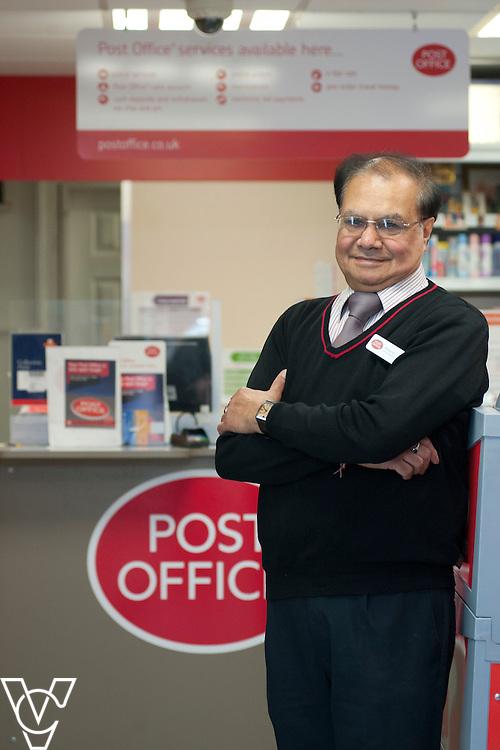 Stockbrook Road Post Office, Derby.<br /> <br /> Pictured is subpostmaster Mukund Karia<br /> <br /> Date: September 1, 2014Derby