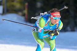 Dovzan Miha of Slovenia competes during the IBU World Championships Biathlon 4x7,5km Relay Men competition on February 20, 2021 in Pokljuka, Slovenia. Photo by Vid Ponikvar / Sportida