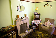 1950s living room, Museum of East Anglian Life, Stowmarket, Suffolk