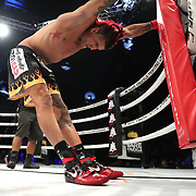 DAYTONA BEACH, FL - SEPTEMBER 11: Kendall Grove stretches prior to his match against Hector Lombard during the Bare Knuckle Fighting Championships at the Ocean Center on September 11, 2020 in Daytona Beach, Florida. (Photo by Alex Menendez/Getty Images) *** Local Caption *** Hector Lombard; Kendall Grove