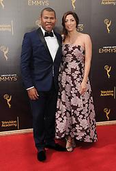 Jordan Peele, Chelsea Peretti bei der Ankunft zur Verleihung der Creative Arts Emmy Awards in Los Angeles / 110916 <br /> <br /> *** Arrivals at the Creative Arts Emmy Awards in Los Angeles, September 11, 2016 ***