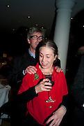 TIMOTHY TAYLOR; SUSAN HILLER, Susan Hiller opening, Tate Britain. 31 January 2010. -DO NOT ARCHIVE-© Copyright Photograph by Dafydd Jones. 248 Clapham Rd. London SW9 0PZ. Tel 0207 820 0771. www.dafjones.com.