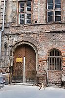 Old Entrance in Kazimierz district in Krakow Poland