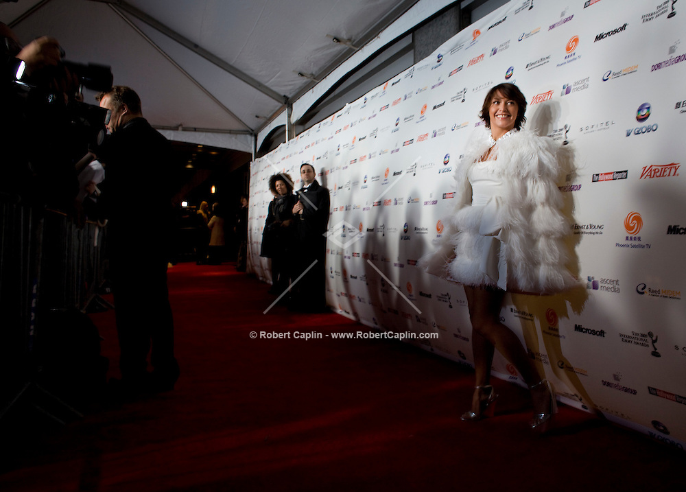 Emma de Caunes (France) at the 2009 International Emmy Awards Gala hosted by the International Academy of Television Arts & Sciences in New York.   ***EXCLUSIVE***