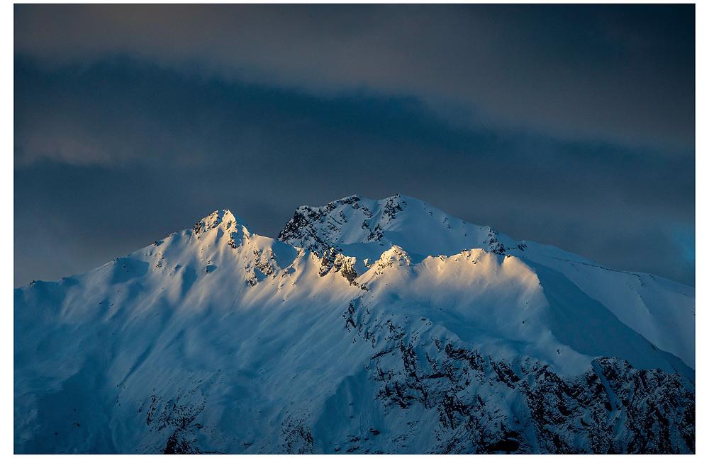 Mt Alta from the Matukituki Valley. Wanaka, Otago.