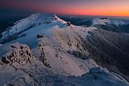 Echo hut in Balkan Mountain in winter time