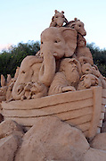 Noah's Ark Biblical story Sand Sculpture