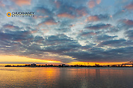 Sunrise over the Mississippi River in New Orleans, Louisiana, USA