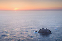 Sunset over the Pacific Ocean from Big Sur California