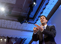 © Licensed to London News Pictures. 19/11/2012. London, UK Leader of the Labour Party Ed Miliband speaks at the CBI (Confederation of British Industry's) conference at Grosvenor House Hotel today 19th October 2012 . Photo credit : Stephen Simpson/LNP