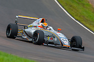 Carter Williams (USA) of JHR Developments exits Butchers during Round 23 of the FIA Formula 4 British Championship at Knockhill Racing Circuit, Dunfermline, Scotland on 15 September 2019.