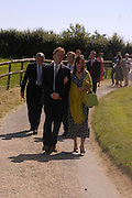 Marriage of Emilia Fox to Jared Harris. St. Michael's and All Angels. Steeple. Nr. Wareham. Dorset. 16 July 2005. ONE TIME USE ONLY - DO NOT ARCHIVE  © Copyright Photograph by Dafydd Jones 66 Stockwell Park Rd. London SW9 0DA Tel 020 7733 0108 www.dafjones.com