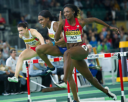 Nia Ali(1st, R) of the United States competes in the Wemen's 60 metres hurdles final during day two of the IAAF World Indoor Championships at Oregon Convention Center in Portland, Oregon, the United States, on March 18, 2016. EXPA Pictures © 2016, PhotoCredit: EXPA/ Photoshot/ Yang Lei From Chongqing<br /> <br /> *****ATTENTION - for AUT, SLO, CRO, SRB, BIH, MAZ, SUI only*****