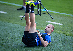 CARDIFF, WALES - Tuesday, September 7, 2021: Estonia's Sander Puri during a training session at the Cardiff City Stadium ahead of the FIFA World Cup Qatar 2022 Qualifying Group E match between Wales and Estonia. (Pic by David Rawcliffe/Propaganda)