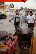 Cooking chicharones, Mazatlan, Sinaloa, Mexico