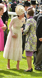 Left to right, HRH The DUCHESS OF CAMBRIDGE and HRH The PRINCESS ROYAL at day two of the Royal Ascot 2016 Racing Festival at Ascot Racecourse, Berkshire on 15th June 2016.
