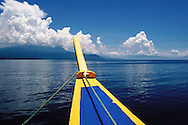 Bow of a bangka boat offshore of Mindoro Island, Philippines, Southeast Asia, 2016