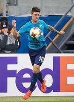 ST PETERSBURG, RUSSIA - OCTOBER 19, 2017. UEFA Europa League group stage: Zenit St Petersburg (Russia) 3 – 1 Rosenborg BK (Norway). Zenit St Petersburg's Emiliano Rigoni.
