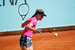 May 3, 2019 - Madrid, MADRID, SPAIN - Angelique Kerber of Germany during the Mutua Madrid Open 2019 (ATP Masters 1000 and WTA Premier) tenis tournament at Caja Magica in Madrid, Spain, on April 28, 2019. (Credit Image: © AFP7 via ZUMA Wire)