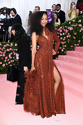 """Zoe Saldana at the 2019 Costume Institute Benefit Gala celebrating the opening of """"Camp: Notes on Fashion"""".<br />(The Metropolitan Museum of Art, NYC)"""