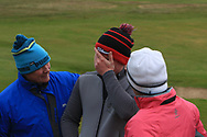 Josh Mackin (Dundalk) celebrates with his Mum and Dad after winning the Ulster Boys Championship at Donegal Golf Club, Murvagh, Donegal, Co Donegal on Friday 26th April 2019.<br /> Picture:  Thos Caffrey / www.golffile.ie