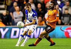 Tom Lockyer of Bristol Rovers clears the ball from Jack Price of Wolverhampton Wanderers - Mandatory by-line: Robbie Stephenson/JMP - 19/09/2017 - FOOTBALL - Molineux - Wolverhampton, England - Wolverhampton Wanderers v Bristol Rovers - Carabao Cup