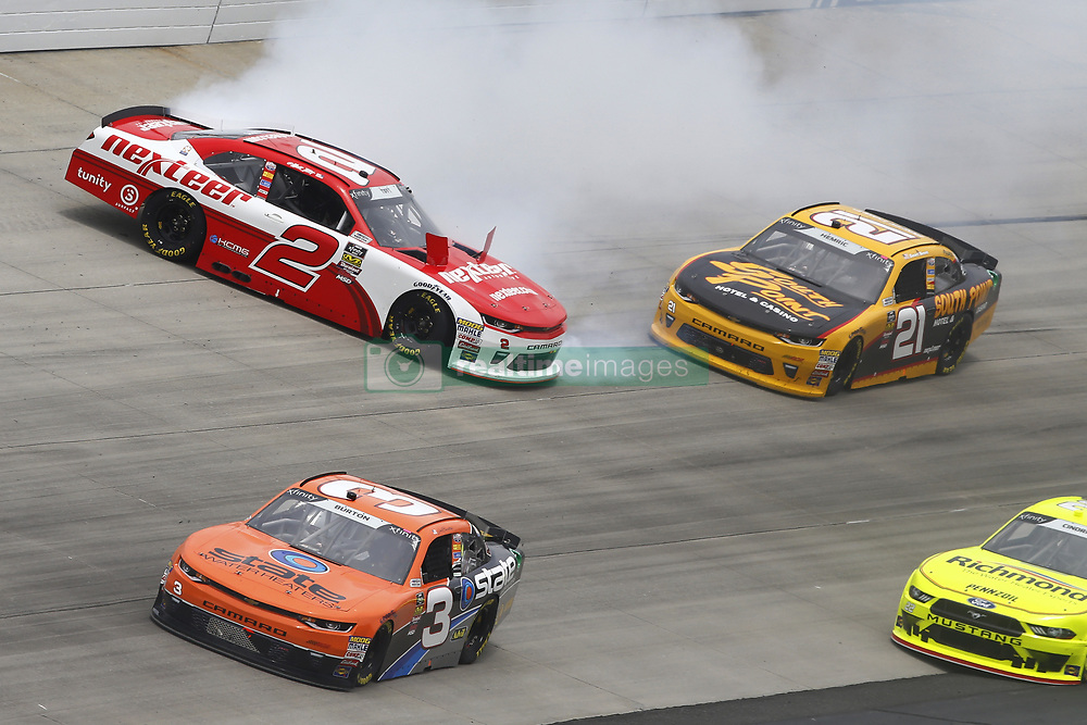 May 5, 2018 - Dover, Delaware, United States of America - Matt Tifft (2) spins to bring out a caution during the OneMain Financial 200 at Dover International Speedway in Dover, Delaware. (Credit Image: © Chris Owens Asp Inc/ASP via ZUMA Wire)